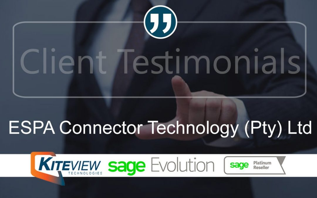 Client Testimonial – ESPA Connector Technology