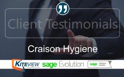 Client Testimonial – Craison Hygiene