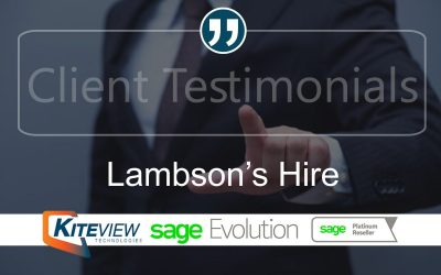 Client Testimonial – Lambson's Hire