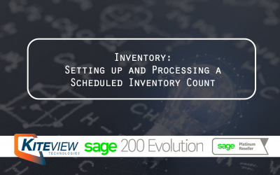 Inventory: Setting up and Processing a Scheduled Inventory Count