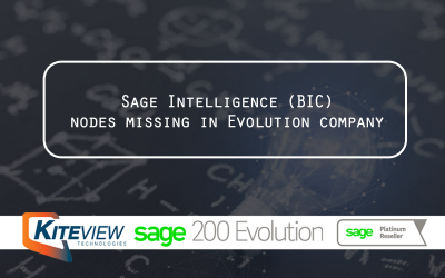 Sage Intelligence (BIC) nodes missing in Evolution company
