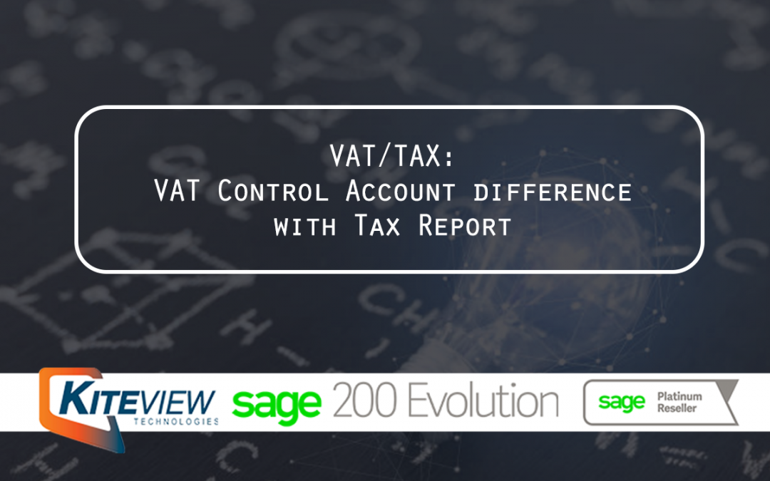 VAT/TAX: VAT Control Account difference with Tax Report