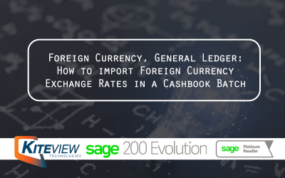 Foreign Currency, General Ledger How to import Foreign Currency Exchange Rates in a Cashbook Batch