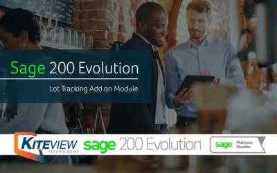 Lot Tracking – Sage 200 Evolution Add on Module