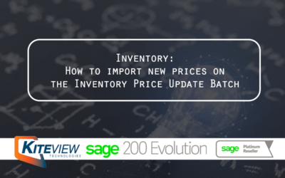 Inventory: How to import new prices on the  Inventory Price Update Batch