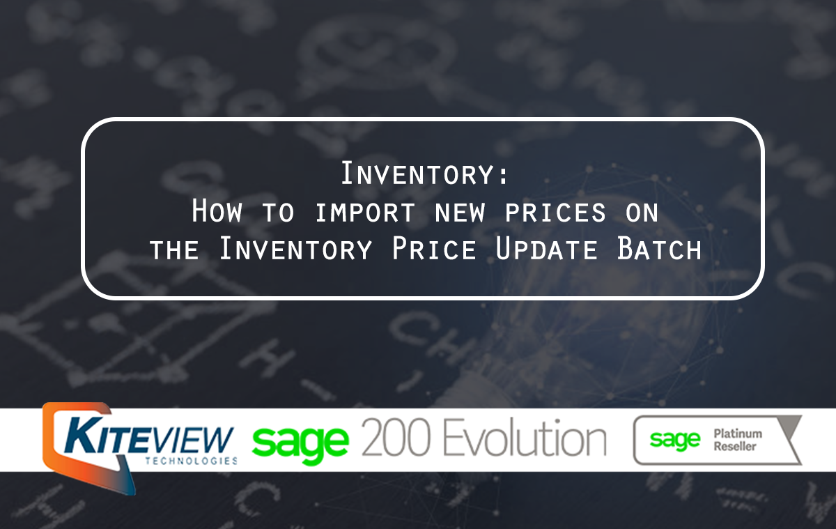 Inventory How to import new prices on the Inventory Price Update Batch