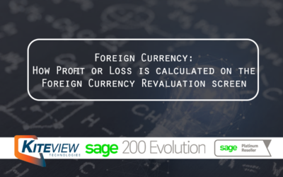 Foreign Currency: How Profit or Loss is calculated on the Foreign Currency Revaluation screen