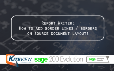 Report Writer: How to add border lines / borders on source document layouts